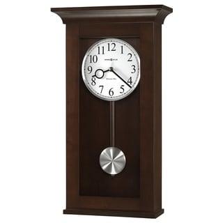 Howard Miller Braxton Elegant, Modern, Transitional, Sleek and Chic Chiming Wall Clock with Pendulum, Reloj De Pared