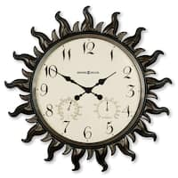 Howard Miller Sunburst, Contemporary, Modern, Eclectic, Coastal and Transitional Style Statement Wall Clock, Reloj De Pared