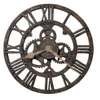 Howard Miller Allentown Rustic, Industrial, Steampunk, Farmhouse Style Distressed Wall Clock , Reloj De Pared