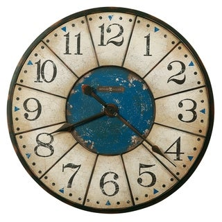 Howard Miller Balto Contemporary Modern, Coastal, Beachy Chic, Distressed Gallery Wall Clock with Large Numbers, Reloj De