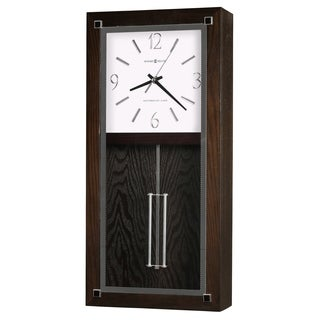 Howard Miller Reese Modern, Transitional, Bold, and Chic,  Gallery Chiming Wall Clock with Pendulum, Reloj De Pared