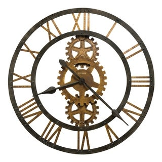 Howard Miller Crosby Industrial, Steampunk, Vintage with a Modern Twist, Statement Wall Clock, Reloj De Pared