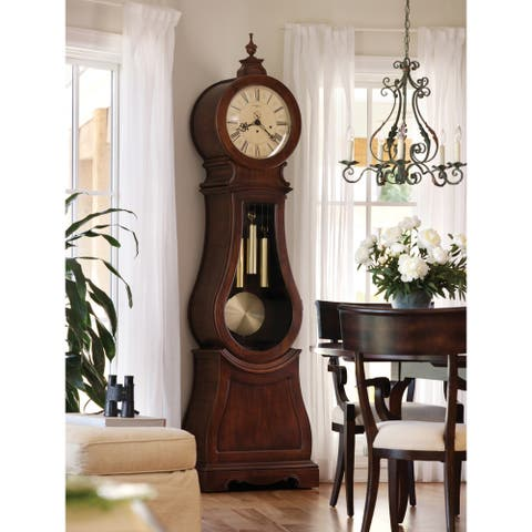 Howard Miller Classic Arendal Hardwood Grandfather Standing Clock - 89.75 in high x 25 in wide x 13.75 in deep