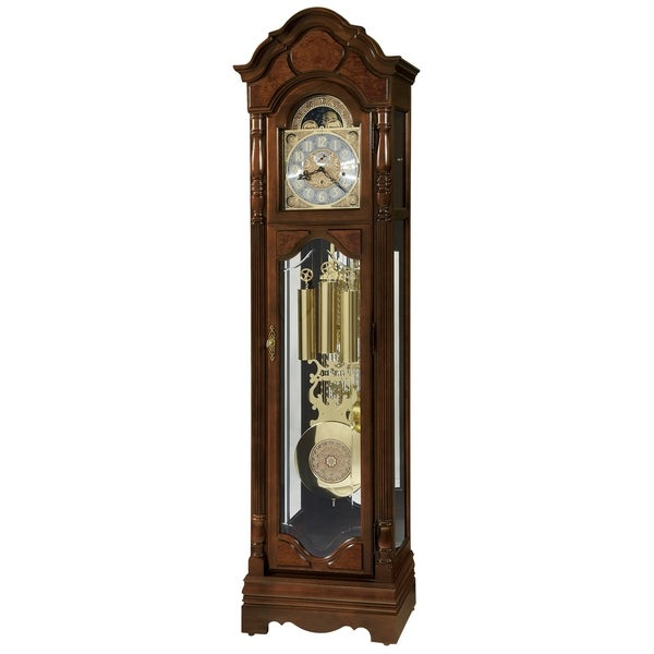 Howard Miller Wilford Classic Grandfather Clock Style Standing Clock with Pendulum and Movements, Reloj de Pendulo de Piso