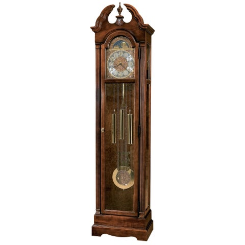 Howard Miller Burnett Vintage Classic Grandfather Clock Style Standing Clock with Pendulum and Movements, Reloj de Piso