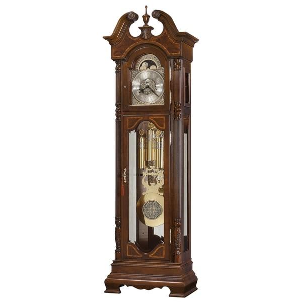 Howard Miller Polk Classic Grandfather Clock Style Standing Clock with Pendulum and Movements, Reloj de Pendulo de Piso