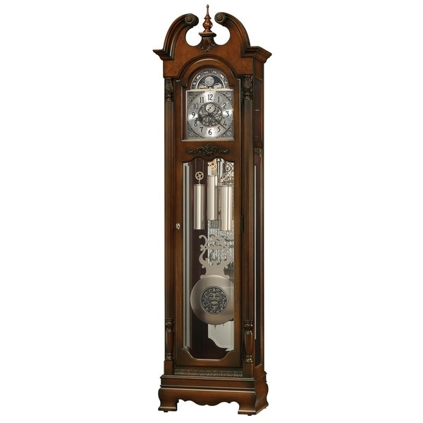 Howard Miller Grayland 89th Anniversary Classic Grandfather Clock Style Standing Clock with Pendulum and Movements