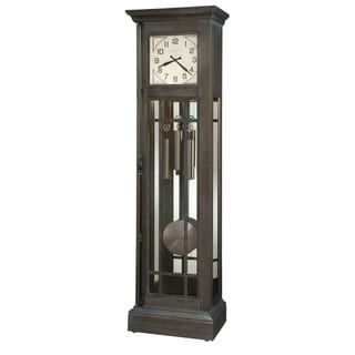 Howard Miller Amos Vintage Grandfather Standing Clock - 77 in. high x 21.5 in. wide x 13.25 in. deep