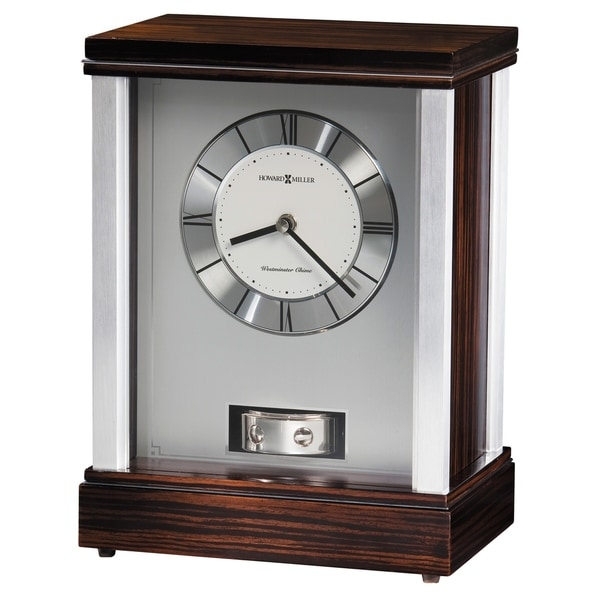 Howard Miller Gardner Contemporary, Transitional, Sleek, Chiming Mantel Clock with Silencing Option, Reloj del Estante