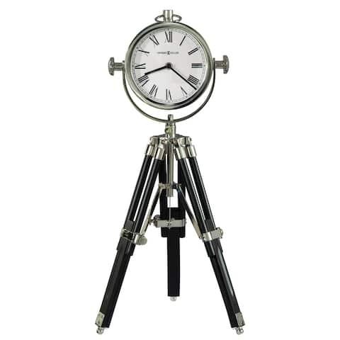 Howard Miller Time Surveyor II Contemporary, Transitional, Sleek and Modern Tripod Mantel Clock, Reloj del Estante