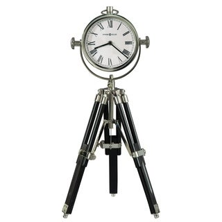 Howard Miller Time Surveyor II Contemporary, Transitional, Sleek and Modern Tripod Mantel Clock, Reloj del Estante