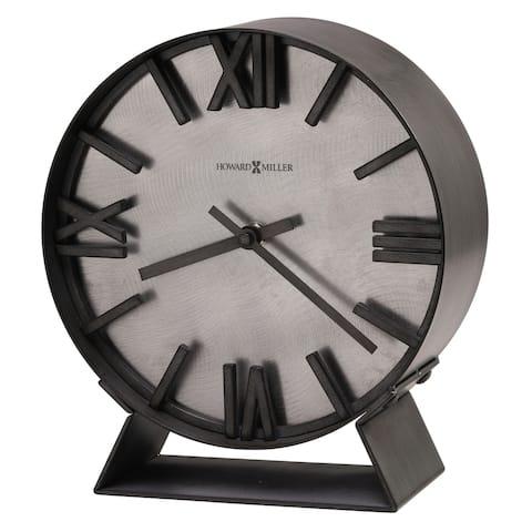 Howard Miller Indigo Contemporary, Transitional, Sleek and Industrial Modern Mantel Clock, Reloj del Estante