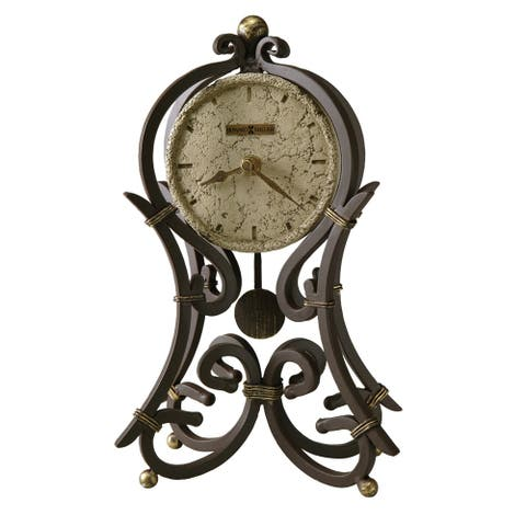 Howard Miller Vercelli Stone Modern, Contemporary, Eckectic, and Transitional Style Accent Mantel Clock, Reloj del Estante