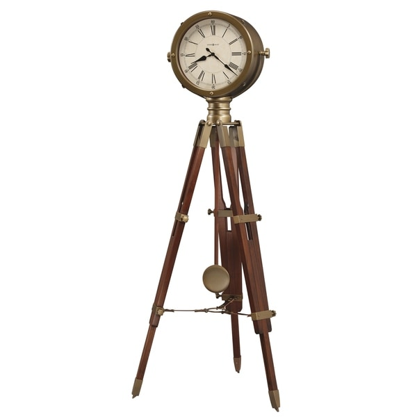 Howard Miller Time Surveyor Classic Vintage Tripod Style Standing Clock with Pendulum and Movements, Reloj de Pendulo de Piso