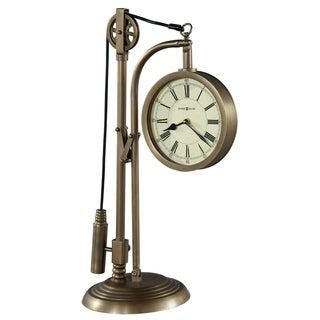 Howard Miller Pulley Time Vintage, Industrial, and Old World Style Mantel Clock, Reloj del Estante