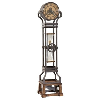 Howard Miller Hourglass Steampunk Vintage Style Standing Clock - 77.5 in. high x 18.75 in. wide x 17.5 in. deep