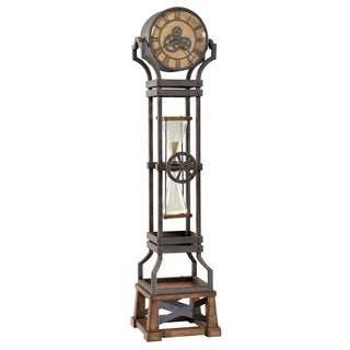 Howard Miller Hourglass Steampunk Vintage Style Standing Clock with Pendulum and Movements, Reloj de Pendulo de Piso