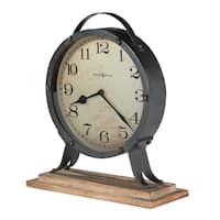 Howard Miller Gravelyn Vintage, Industrial, Old World, and Distressed Style Accent Mantel Clock, Reloj del Estante