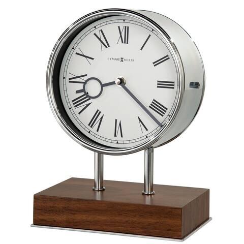 Howard Miller Zoltan Contemporary, Transitional, Sleek, Chiming Mantel Clock with Silencing Option, Reloj del Estante