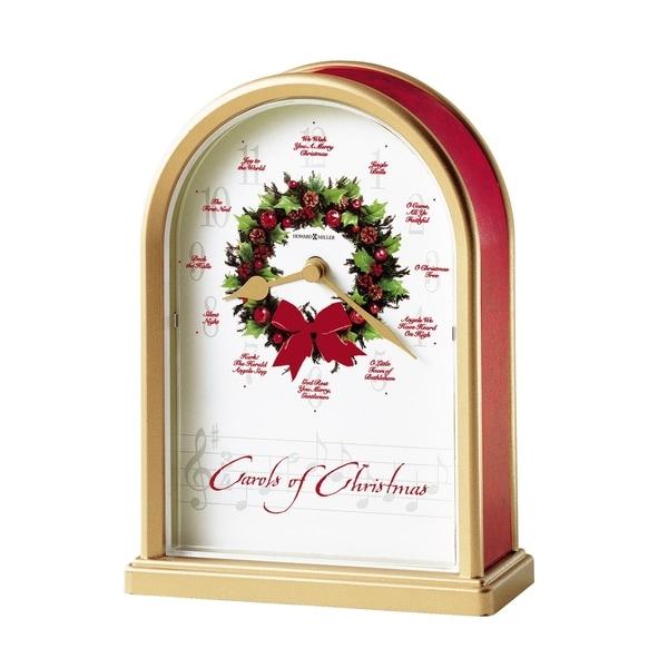 Howard Miller Carols of Christmas II Vintage, Traditional Chiming Mantel Clock with Hourly Carol Chimes, Reloj de Navidad