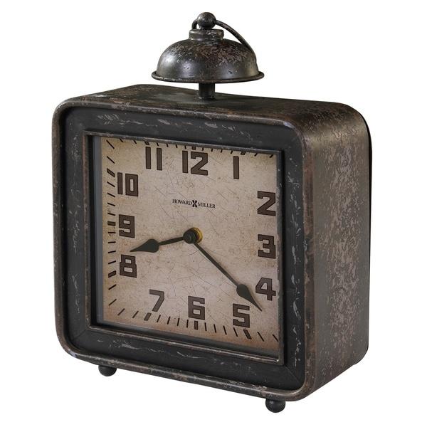 Howard Miller Collins Vintage, Industrial, Old World, and Distressed Style Mantel Clock, Reloj del Estante