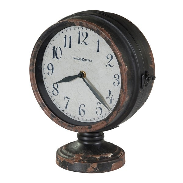 Howard Miller Cramden Vintage, Industrial, Old World, and Distressed Style Mantel Clock, Reloj del Estante