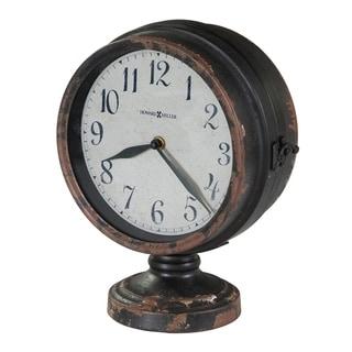 Howard Miller Cramden Vintage, Industrial, Old World, and Distressed Style Mantel Clock, Reloj del Estante