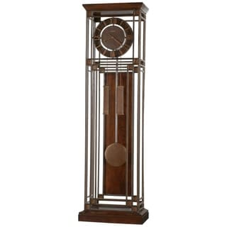 Howard Miller Tamarack Aged Ironstone Modern Grandfather Clock Style Standing Clock with Pendulum and Movements