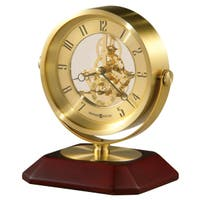 Howard Miller Solomon Skeleton Contemporary, Modern, Sleek & Glam Mantel Clock with Movements, Reloj del Estante