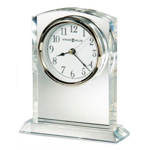 Howard Miller Flaire Contemporary, Modern, Classic Style & Glam Mantel Clock, Reloj del Estante