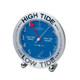 Howard Miller Tide Mate III Modern, Transitional, Nautical, Coastal Mantel Clock with Revolving World Map, Reloj del Estante