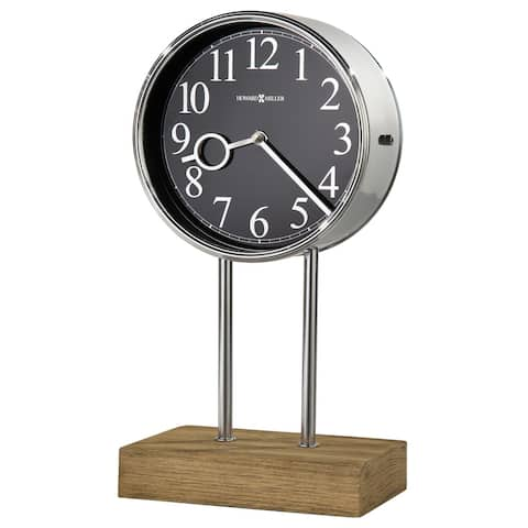 Howard Miller Baxford Contemporary, Transitional, Sleek, Chiming Mantel Clock with Silencing Option, Reloj del Estante