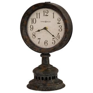 Howard Miller Ardie Vintage, Industrial, Old World, and Distressed Style Accent Mantel Clock, Reloj del Estante