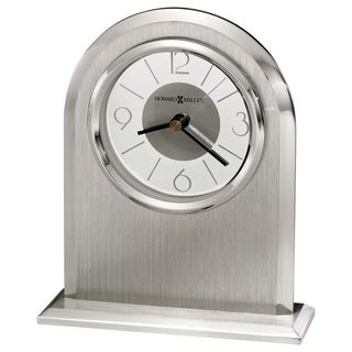 Howard Miller Argento, Modern, Chic, and Sleek Art Deco Style Table Clock, Reloj de Mesa
