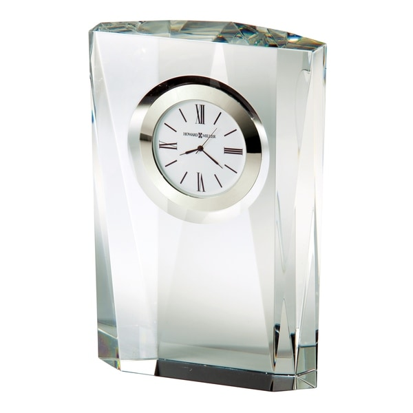 Howard Miller Quest Contemporary, Modern, Glam Style & Sleek Desk Clock in Gift Box, Reloj del Estante