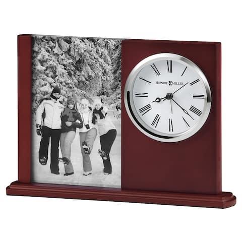 Howard Miller Portrait Caddy II, A Classic, Contemporary & Modern, Sleek Table Clock with Photo Insert, Reloj de Mesa