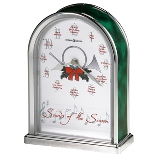 Howard Miller Sounds of the Season Classic, Traditional, Chiming Mantel Clock with Christmas Melody Chimes