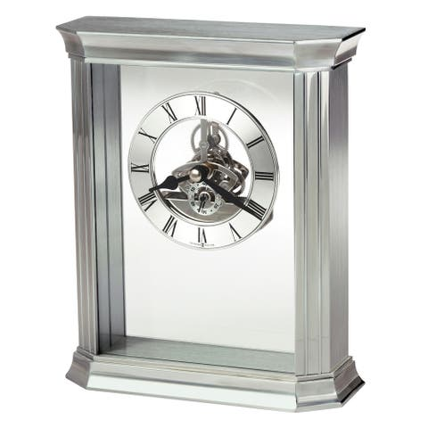 Howard Miller Rothbury Transitional, Modern and Bold, Statement Table Clock with Skeleton Movements, Reloj de Mesa