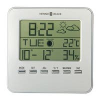 Howard Miller Weather View Contemporary, Modern, Classic Style & Sleek Alarm Clock with Weather Information, Reloj del Estante