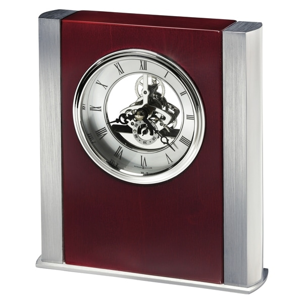 Howard Miller Grayson Transitional, Classic and Bold, Statement Table Clock with Skeleton Movements, Reloj de Mesa