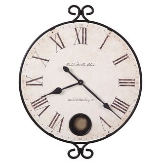 Howard Miller Magdalen Charming, Contemporary, Farmhouse, and Transitional Style Distressed Wall Clock, Reloj De Pared