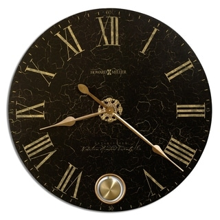Howard Miller London Night Elegant, Glam, Vintage Style Distressed Statement Wall Clock