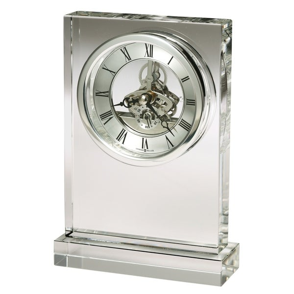 Howard Miller Brighton Transitional, Classic and Bold, Chic, Statement Table Clock with Skeleton Movements, Reloj de Mesa