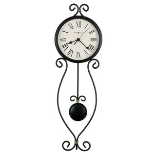Howard Miller Ivana Rustic, Farmhouse Chic, Industrial, and Transitional Style Wall Clock with Pendulum, Reloj De Pared