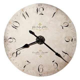 Howard Miller Enrico Fulvi 32 Inch Rustic, Industrial, Old World Style Distressed, Round Wall Clock , Reloj De Pared