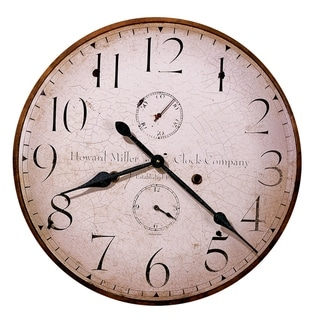 Howard Miller H. Miller 25 Inch Rustic, Industrial, Old World Style Distressed, Round Wall Clock