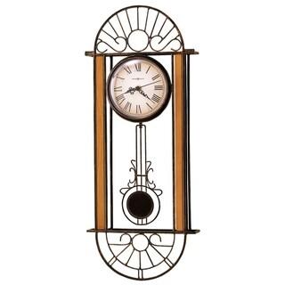 Howard Miller Devahn, Rustic, Vintage, Contemporary, Transitional Wall Clock with Pendulum, Reloj De Pared