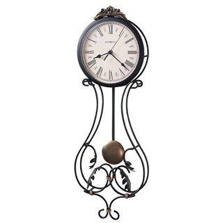 Howard Miller Paulina Elegant, Contemporary, Transitional,Floral and Charming Wall Clock with Pendulum, Reloj De Pared