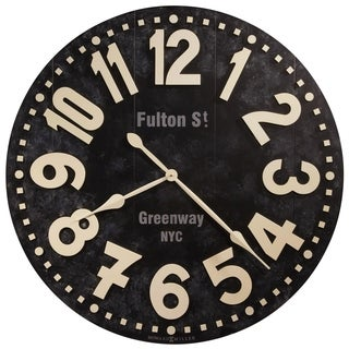 Howard Miller Fulton Transitional, Modern and Contemporary, Bold and Chic, Gallery Wall Clock with Large Numbers, Reloj De Pared