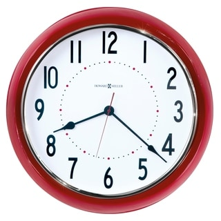 Howard Miller Crimson Hall Vibrant, Classic, Transitional Style Wall Clock with Large Numbers, Reloj De Pared